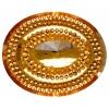 Glitz Sew-on Stone 10pcs Oval 40x50mm Gold